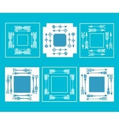boho handmade set of elements vector image