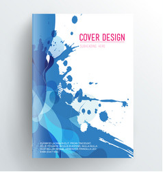 Book cover design template with abstract splash vector