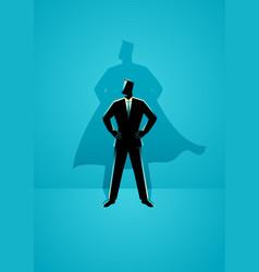 businessman with superhero shadow vector image