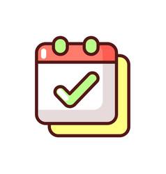 Calendar app rgb color icon vector