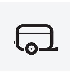 Caravan Icon vector image