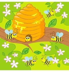 Cartoon beehive vector image vector image