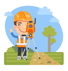 cartoon land surveyor vector image