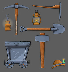 cartoon mining set vector image