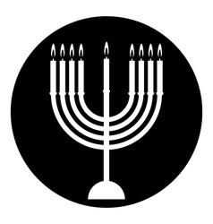Chanukah symbol button vector