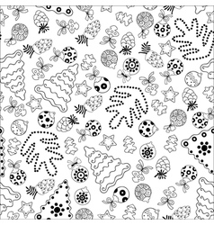 christmas seamless pattern with trees vector image
