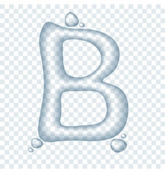 Clear transparent liquid typeface vector image