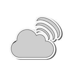 Cloud computing service icon vector image