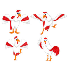 collection of the cock vector image