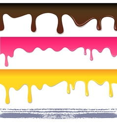 Colored seamless drips background vector