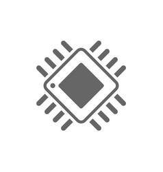 Computer chip chalk icon processor memory card vector
