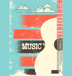 Country music poster with musical instrument vector
