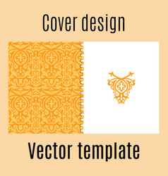 cover design with colored arabic pattern vector image