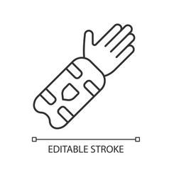Cricket arm guard linear icon body protection vector