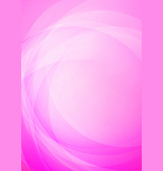 curved abstract pink background vector image