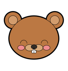 Cute beaver cartoon vector