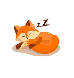 cute fox sleeping vector image