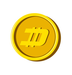 dash virtual money currency vector image