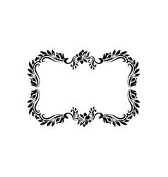 decorative victorian style calligraphic vector image