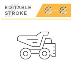 dump truck line icon vector image