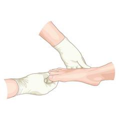 Examination foot vector