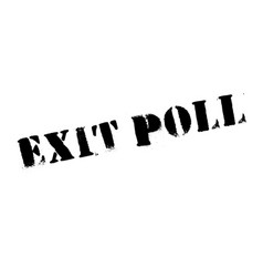 exit poll rubber stamp vector image