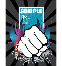 fist with background vector image