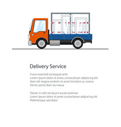 Flyer small truck with windows vector
