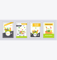 Food and drink marketing material ads cover design vector