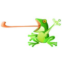 frog tongue cartoon vector image