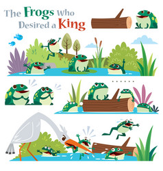 Frogs who desired a king vector