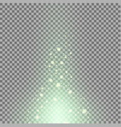 glow sparks effect green color vector image
