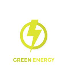 green energy logo icon vector image