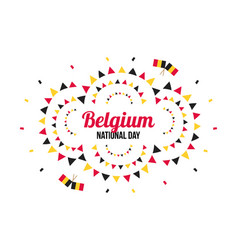 greeting card for belguim national day 21 july vector image
