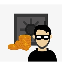 hacker in laptop system security design vector image