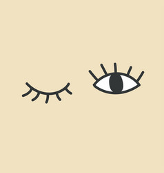 Hand drawn eye doodles open and winking eyes vector