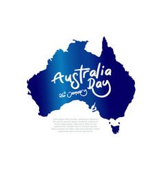 happy australia day celebration poster or banner vector image