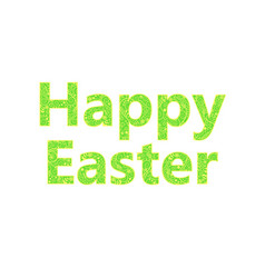 happy easter light green inscription vector image