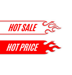 Hot sale banner scroll template design with flame vector