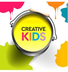 Kids art craft education creativity class concept vector