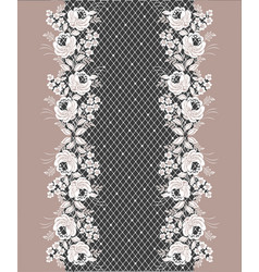 Lace floral decorative border vector