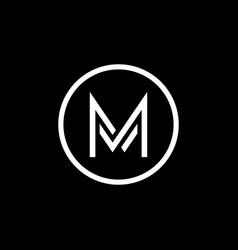 Letter m logo template design vector