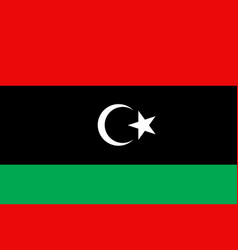 libya flag flat vector image