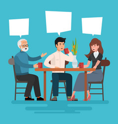 lunch in restaurant vector image
