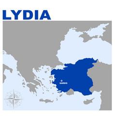 Map lydia vector