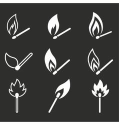 Match icon set vector