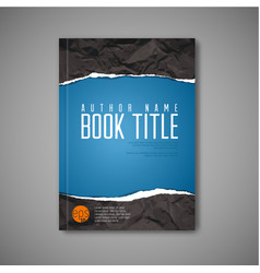 Modern abstract blue book cover template vector