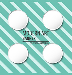 Modern art abstract banner square frame for text vector