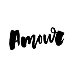 mon amour postcard my love in french phrase for vector image