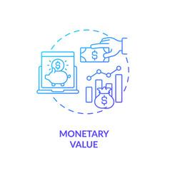 Monetary value concept icon vector